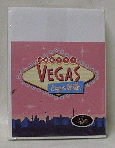 Vegas Invite - Genuine Hallmark Personizable Invitation Kit - Party / Vegas it Up a Little Invitations - 10 Invitations each
