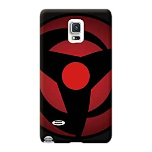 Protective Hard Cell-phone Case For Samsung Galaxy Note 4 With Allow Personal Design Realistic Vector Naruto Shippuden Sharingan Pictures JamieBratt