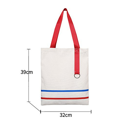 Tote Women's Girls White Crossbody Handle Hobo Simple 1 Bag Top Bag Handbags Casual Canvas Shoulder wttRpqr8