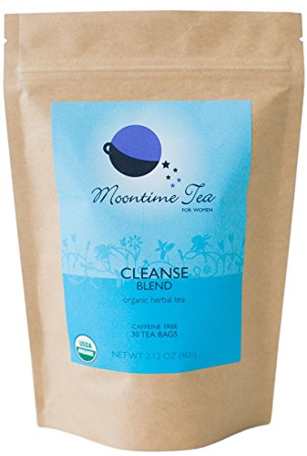 Organic Cleanse and Detox Tea for Women, 30 Tea bags with Mint, Dandelion Root and Burdock Root ()