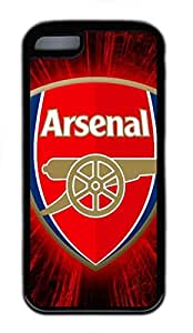 iPhone 5C Case, iPhone 5C Cases - Black Soft Rubber Shock-Absorption Bumper Case for iPhone 5C Arsenal Logo Water Resistant Back Case for iPhone 5C