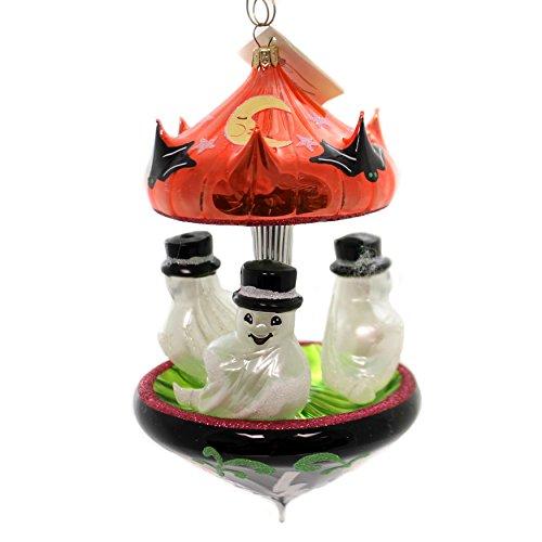 LAVED ITALIAN ORNAMENTS GHOST CAROUSEL Glass Halloween Pumpkin CAR012 -
