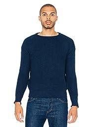 American Apparel Men\'s Fisherman\'s Pullover Sweater, Navy, Medium