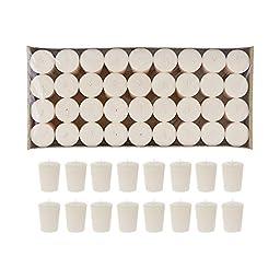 Mega Candles - Unscented 15 Hours Votive Candle - Ivory, Set of 72