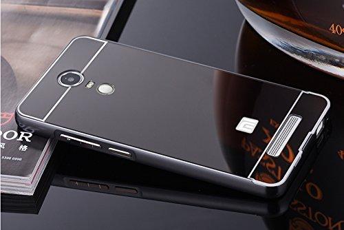 KPH-KPH-MIRROR-BACK-545-Luxury-Mirror-Effect-Acrylic-back-Metal-Bumper-Case-Cover-for-Xiaomi-Redmi-Note-3Black