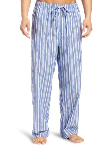 Stripe Pajama Bottoms (Nautica Men's Sultan Stripe Woven Pajama Pant, Cornflower, Large)