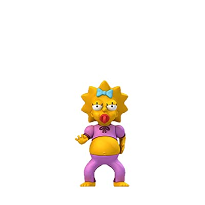 """NECA Simpsons 25th Anniversary - Maggie Pink Jumpsuit - 5"""" Action Figure Series 2: Toys & Games"""