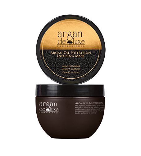 Argan Deluxe Hair Mask and Scalp Rejuvenating Deep Conditioner Masque, 250 mL