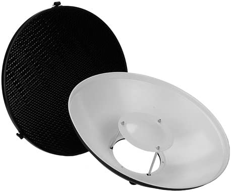 R Fotodiox Pro Beauty Dish 16 Kit with Honeycomb Grid and Speedring for Bowens Gemini Standard RX Strobe and more