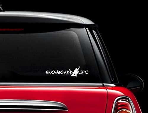 Snowboard Life Snowboarding Decal Vinyl Sticker|Cars Trucks Vans Walls Laptop| WHITE |7.5 x 2.5 - Arbor Stance Snowboard