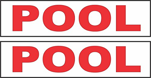 Rider Pool (2 - 6x24 POOL Real Estate Rider Sign Red)