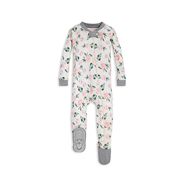 Burts Bees Baby Baby Boys Unisex Pajamas Zip-Front Non-Slip Footed Sleeper Pjs Organic Cotton