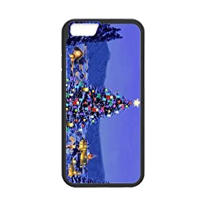 iPhone 6 Case, Christmas Joyous Tree Sparkle Blue Sky TPU Frame & PC Hard Back Protective Cover Bumper Case for Iphone 6 (4.7) (2014)