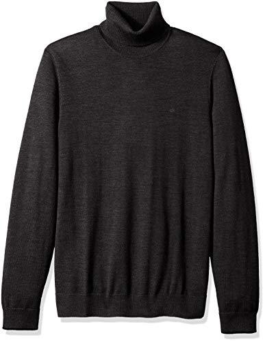 Calvin Klein Men's The Extra Fine Merino Turtleneck Sweater, ANSA, Medium