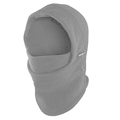 Fleece Windproof Ski Face Mask Balaclavas Hood by Super Z Outlet (Light Gray),One - Company Ski Outlet