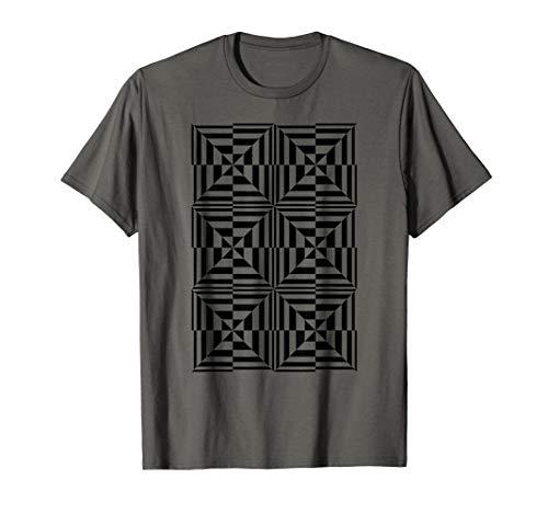 Crazy Squares OP ART Cool Optical Illusion Design T Shirt