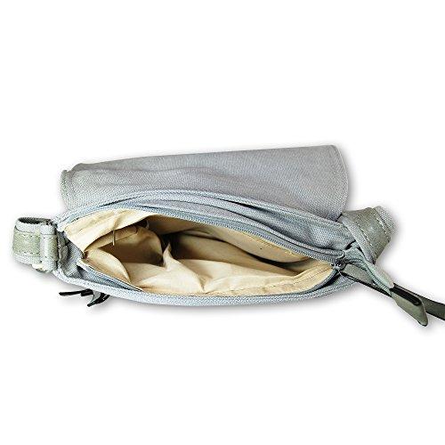 HELLIS & DERRY© Bolso bandolera, marrón (marrón) - X-Z8169 gris