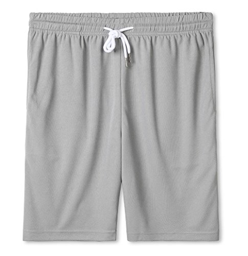 Our Precious Men's Dry Fit Mesh Casual Classic Fit Athletic Gym Shorts Grey M -