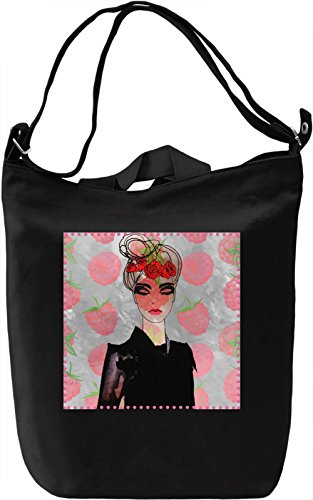 Raspberry Girl Borsa Giornaliera Canvas Canvas Day Bag| 100% Premium Cotton Canvas| DTG Printing|
