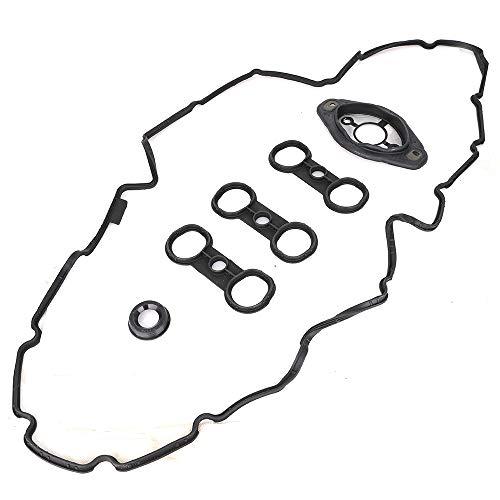 (11127552280 Engine Valve Cover Camshaft Adjuster Seal Gasket 11127582245 Valve Cover Gasket Set Engine Valve Cover Camshaft Adjuster Seal Gasket Compatible with BMW)