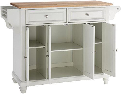 Crosley Furniture Cambridge Kitchen Island with Natural Wood Top - White by Crosley Furniture (Image #2)