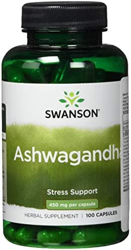 Swanson Premium Ashwagandha Powder Supplement 450 MG Ashwagandha Root Dried Powder – Pure Ashwagandha Supplements for Stress Relief and Energy Support – 100 Gelatin Capsules