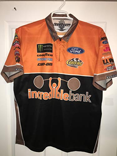 2018 Matt DiBurrito Dibenedetto INCREDIBLE BANK Nascar Pit Crew Shirt Ford GOFAS Race Used 1/4 ZIP Racing Jersey
