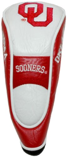 Team Golf NCAA Oklahoma Sooners Hybrid Golf Club Headcover, Hook-and-Loop Closure, Velour lined for Extra Club Protection ()