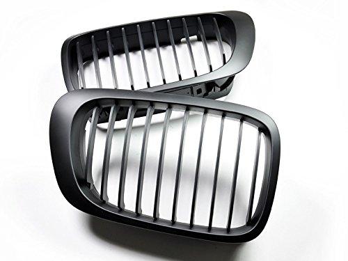 Autotecknic Matte (AutoTecknic Matte Black Front Grille - BMW e46 pre-facelift 3 series coupe/ M3)