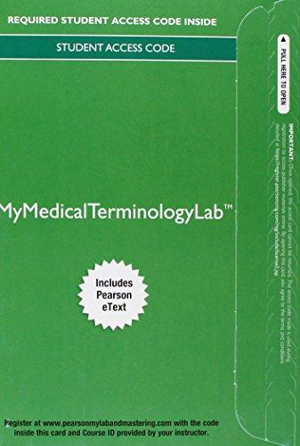 Mymedicalterminologylab W/Etext Access