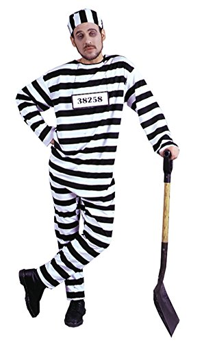 Chain Gang Costumes (Morris Costumes Mens Inmate Chain Gang Convict Prisoner Inmate Fancy Dress, X-Large (48-50))
