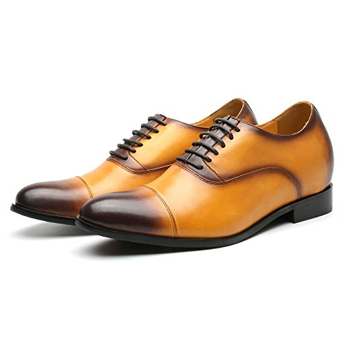 Increasing 76'' Height Shoes Dress Taller Cognac Elevator Shoes 2 CHAMARIPA Men 6zRYw6qE