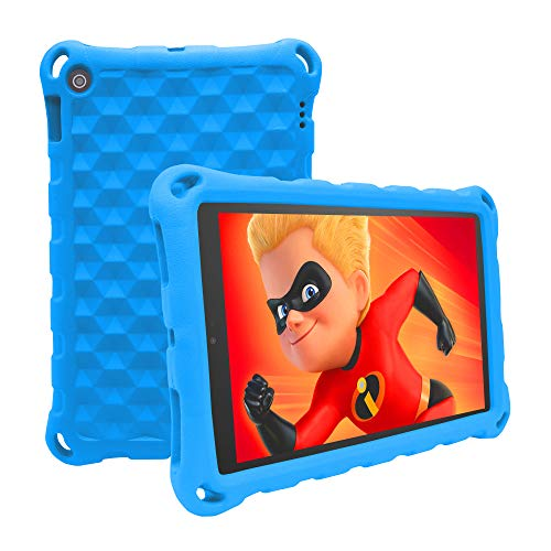 2019 New Fire 7 Tablet Case,(Compatible with 5th Generation, 2015 Release/7th Generation, 2017 Release/9th Generation, 2019 Release), Light Weight Kids Shock Proof Cover for Fire 7 Tablet(New Blue) (Best Tablets For Kids Under 10)