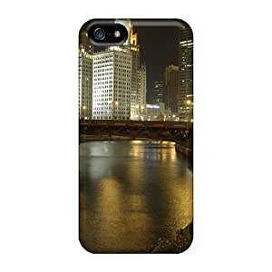 Iphone 5/5s Cases Bumper Covers For Chicago River At Night Accessories