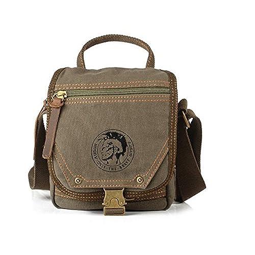 Sechunk Small Canvas Messenger Bag Shoulder Bag Crossbody Satchel Bag for  Men Women Green 60c91e714ddef