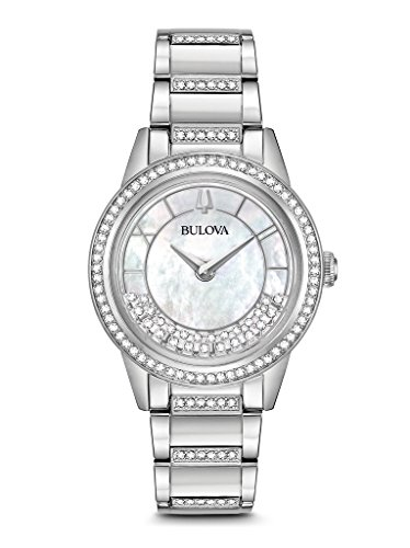 Bulova Women's Turnstyle - 96L257 Stainless One (Bulova Crystal Collection)