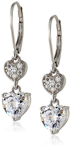 Sterling-Silver-Cubic-Zirconia-Double-Heart-Lever-Back-Drop-Earrings-318-cttw