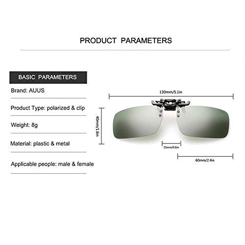 polarisées pour Lunettes lunettes Lunettes UV400 en Auus de rabattable de forme reflets Cyclisme Pêche à Marche nbsp;anti lunettes lentille Clip rectangle sans de pl conduite par cadre soleil on en soleil PRgwRn6EqS