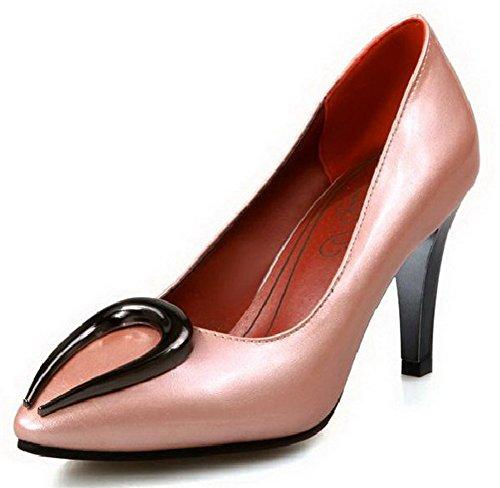 Pointu Tire Unie L Femme Chaussures Couleur Stylet Agoolar qUFtO5x