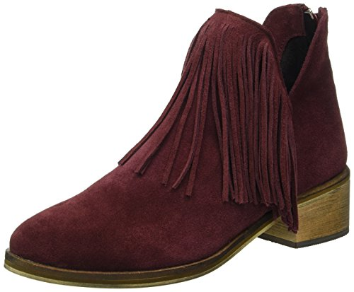 Vero Moda Vmlaure Leather Boot, Zapatillas de Estar por Casa para Mujer Morado