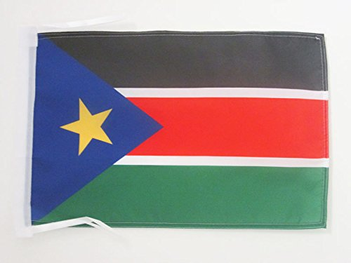 SOUTH SUDAN FLAG 18'' x 12'' cords - SOUTH SUDANESE SMALL FLAGS 30 x 45cm - BANNER 18x12 in - AZ FLAG