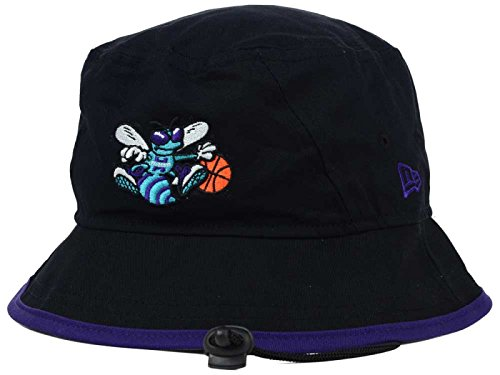 - Charlotte Hornets New Era NBA Hardwood Classics Black/Purple Tipped Bucket Boonie Hat (Medium)