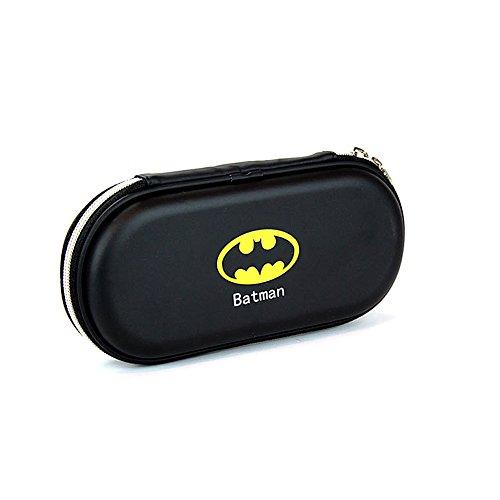 EasiTool Hard Pencil Case for Boys Large Capacity EVA Stationery Pupil Pencil Box Pen Bag, Black