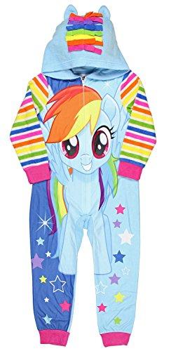 My Little Pony Rainbow Dash Hoodie (My Little Pony The Movie Rainbow Dash Magical Dream Big Girls Hooded Pajama Sleeper (Large, 10))