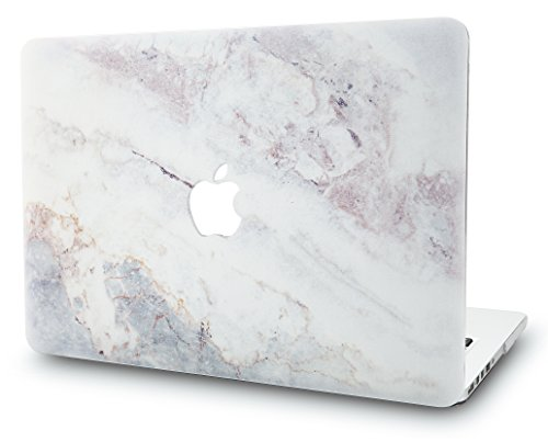 KEC MacBook Air 13 Inch Case Plastic Hard Shell Cover A1369 / A1466 (White Marble 2) (Cover Shell Back Plastic)