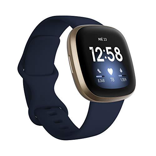 Fitbit-Versa-3-Smartwatch-de-salud-y-forma-fisica-con-GPS-integrado-analisis-continuo-de-la-frecuencia-cardiaca-Alexa-integrada-y-bateria-de-6-dias-Azul-MedianocheDorado