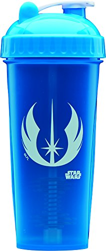 PerfectShaker Performa - Star Wars Shaker Jedi Symbol # 16, Best Leak Free Protein Shaker Bottle with Actionrod Mixing Technology for All Your Protein Needs! Shatter Resistant & Dishwasher Safe