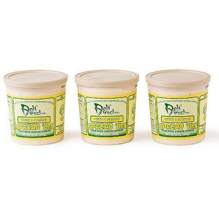 Wisconsin Cheese Spread - Swiss & Almond (3 Pack of 15oz. Each Containers)
