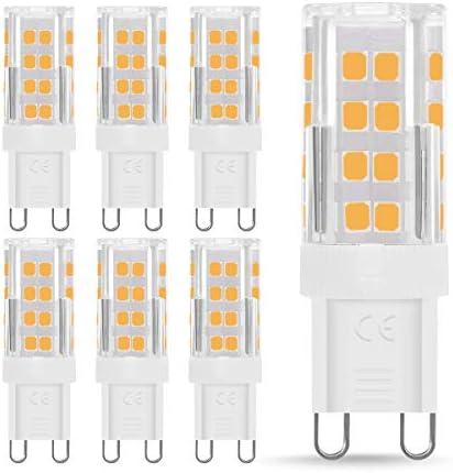 Fulighture G9 LED, G9 LED Lampen, LED Leuchtmittel G9,5W Ersetzt 40W Halogenlampen,Warmweiß 3000K,400 Lumen,360°Abstrahlwinkel,Kein Flackern und Nicht Dimmbar,6er Pack [Energieklasse A+]