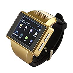 New Shop 1.8 inch Dual Core Android 4.0 Smart Watch Phone WIFI GPS CAMERA 8GB N1 WLSG (D1)